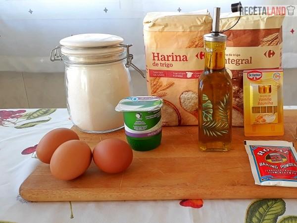 ingredientes queque de yogurt