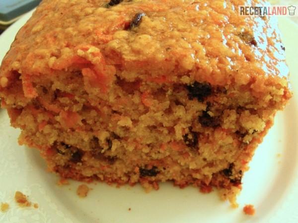 queque zanahoria y nueces (y pasas opcional)