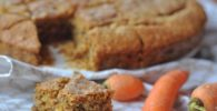 queque saludable de avena. zanahoria y nueces