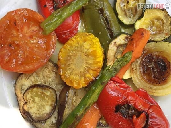 verduras a la plancha tomate espparagos cebolla berenjena calabacin pimiento