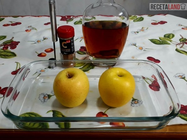 ingredientes manzanas asadas al horno con canela