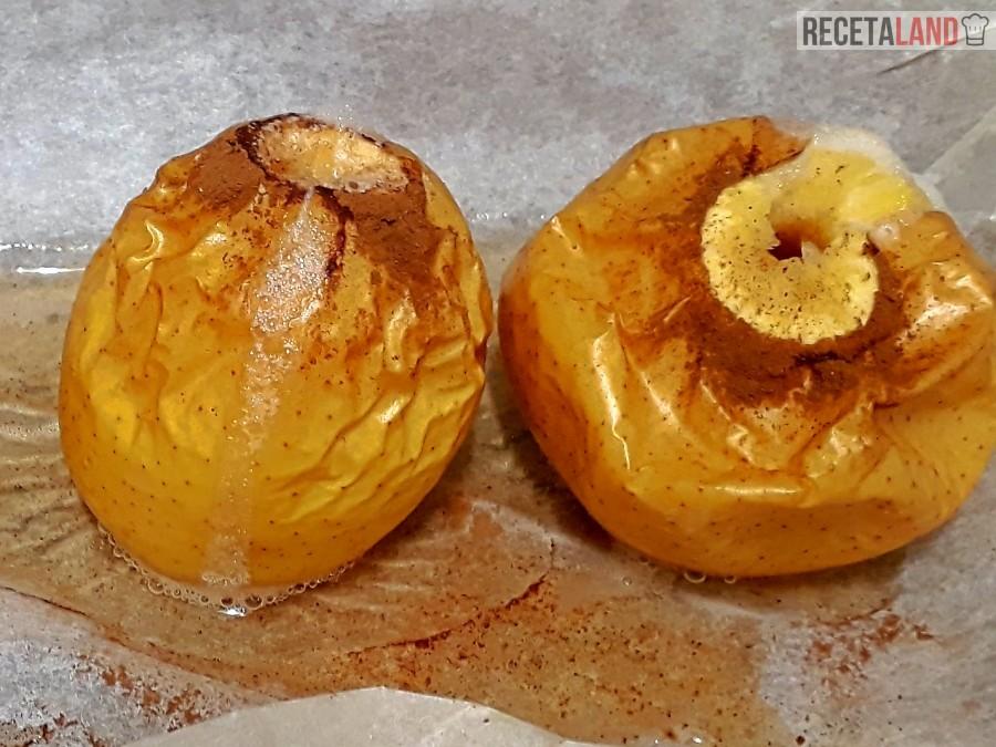 dos manzanas asadas