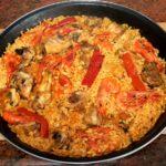 Paella de Pollo y Gambas