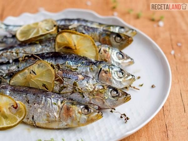 sardinas al horno con limón