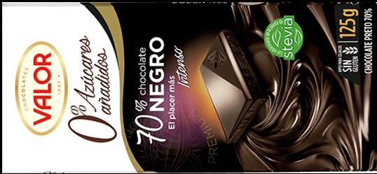 Chocolate sin azúcar 70% Valor