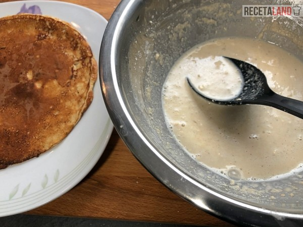 mezcla y tortita de avena