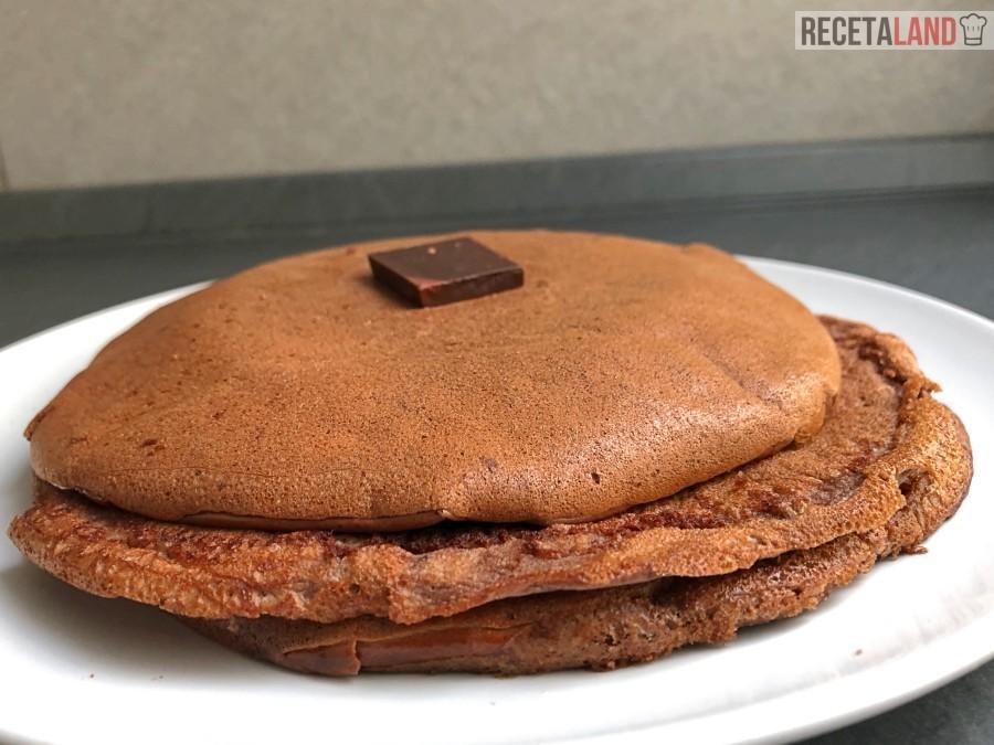 tortitas con proteina en polvo y cacao