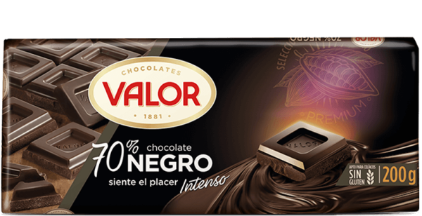 chocolate negro 70% Valor