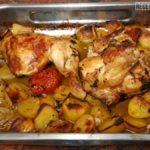 Pollo al Horno Asado con Patatas