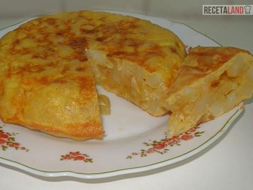 ingredientes tortilla de patatas en microondas light