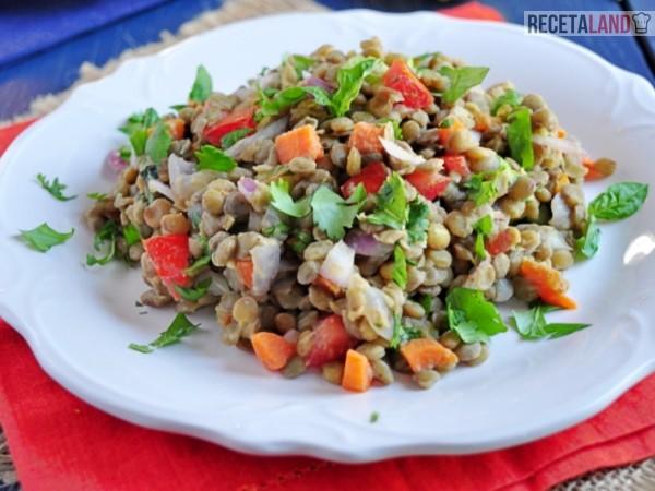 ensalada de lentejas light vegana