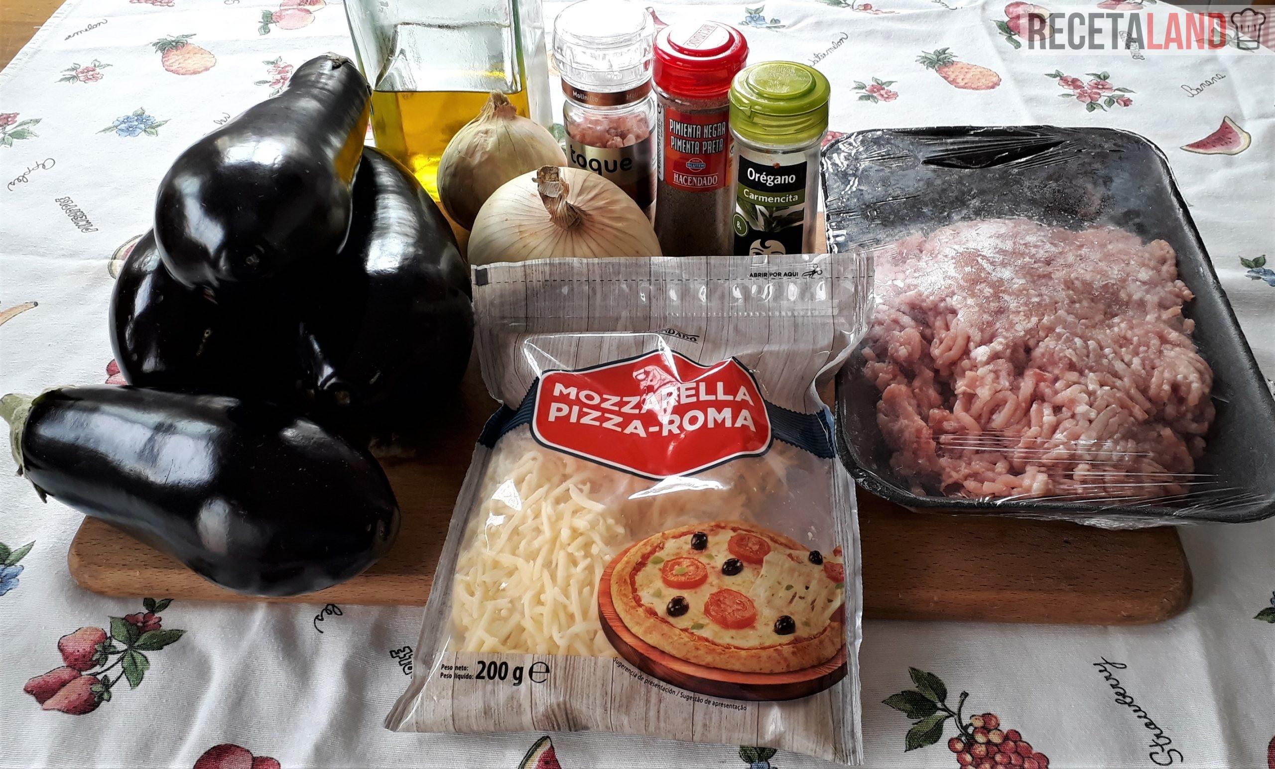 Ingredientes de berenjenas rellenas al horno