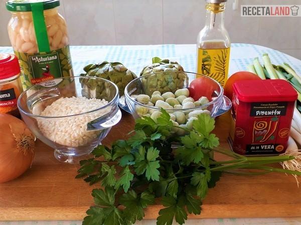 Ingredientes Arroz y Habichuelas