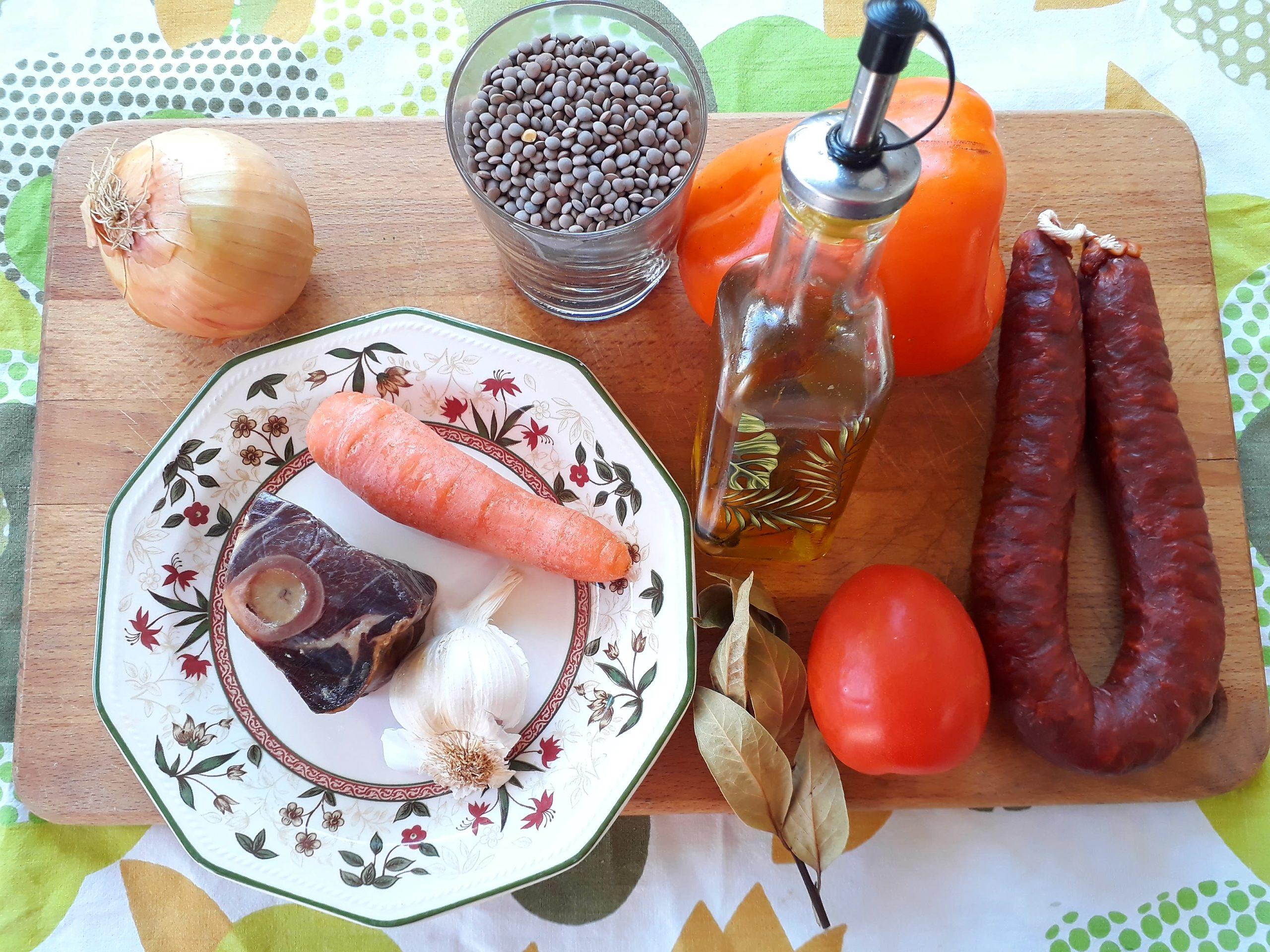 Ingredientes Lentejas con chorizo