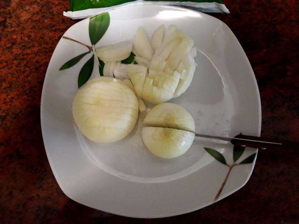 Cortando las cebollas