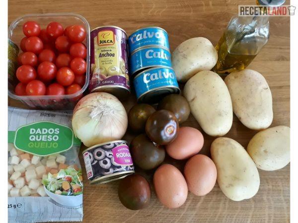 Ingredientes ensalada de patatas