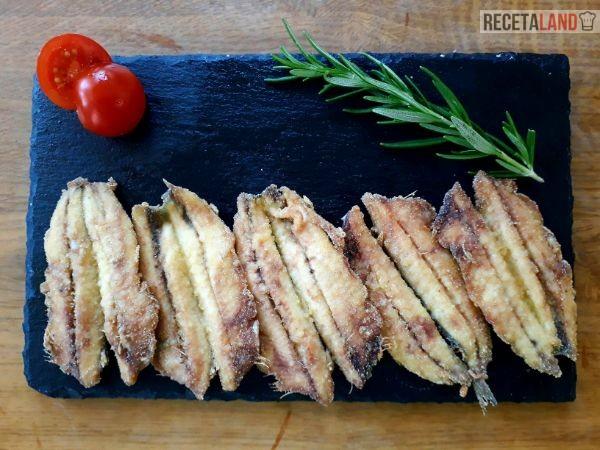 Boquerones fritos abiertos sin espina