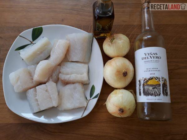 Ingredientes Bacalao encebollado