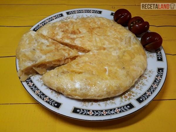 Tortilla de patatas chips con queso