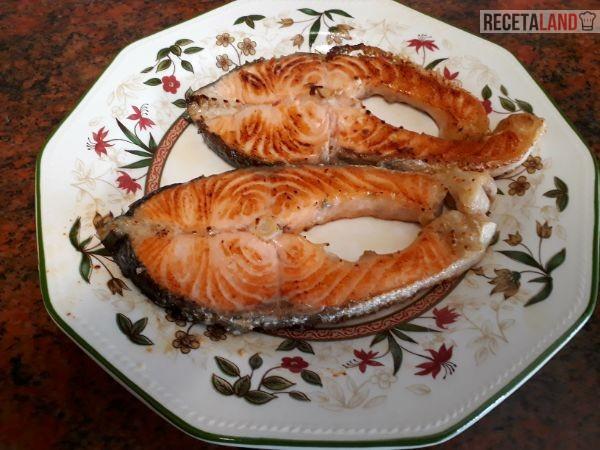 Plato de salmón a la plancha