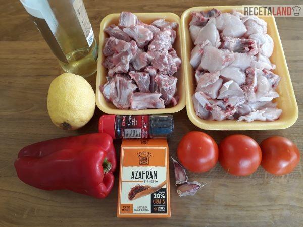 Ingredientes Paella de Carne