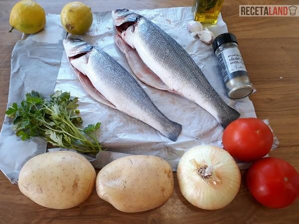 Ingredientes Lubina al horno