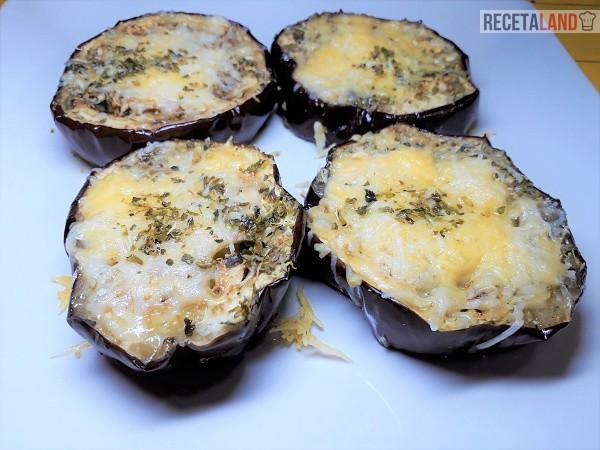 Berenjenas asadas con queso