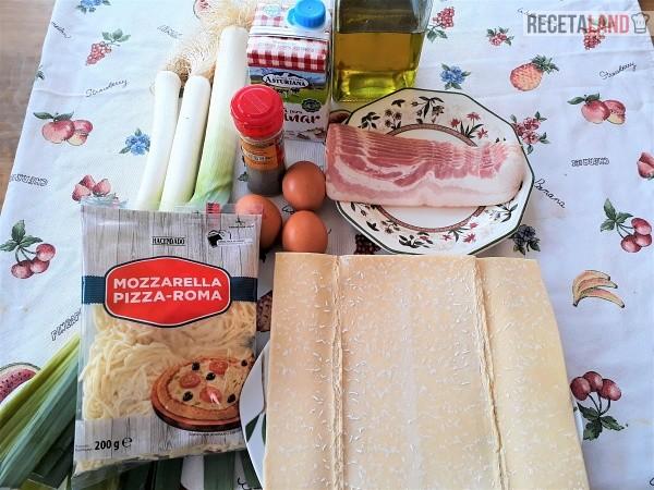 Ingredientes para la Quiche