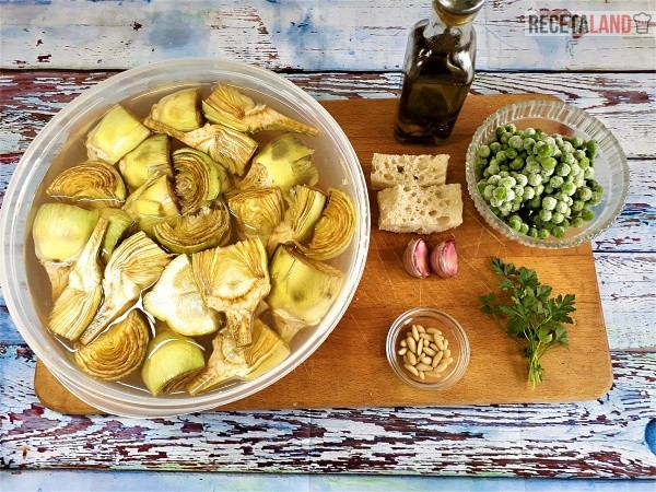 Ingredientes Hervido de Alcachofas
