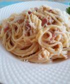 Espaguetis a la carbonara al Estilo Italiano