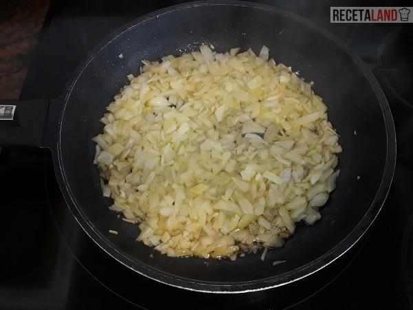 Friendo la cebolla