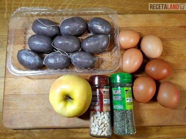 Ingredientes Revuelto de Morcilla de cebolla con Manzana