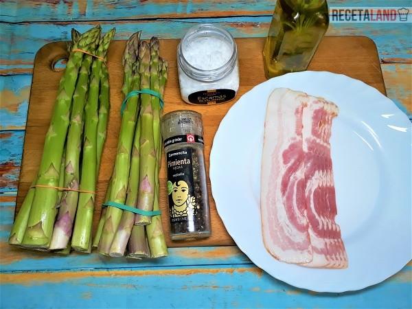 Ingredientes Esparragos verdes o trigueros