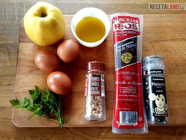 Ingredientes Revuelto de Morcilla de Burgos con Manzana