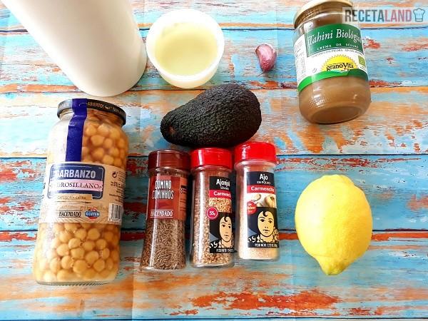 Ingredientes de Humus de Aguacate